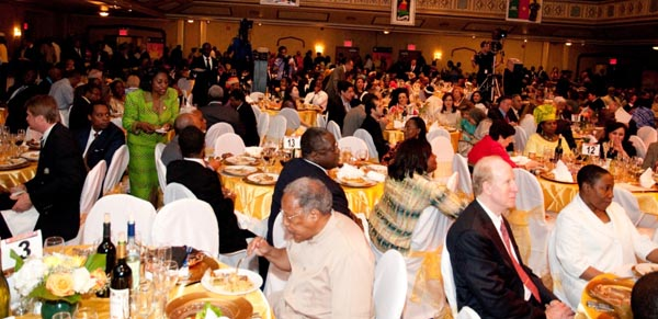 A crowd of over 600 gathered for a glittering celebration of Africa Day at the Manhattan Center in New York