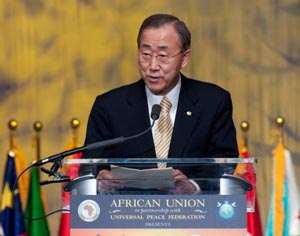 Secretary-General Ban Ki-moon said that Africa is helping to reshape the global agenda.