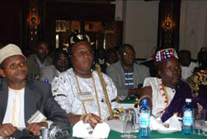 Traditional kings from Benin among delegates attending the International Leadership Conference