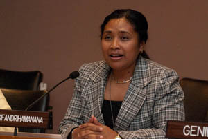 H.E. Mrs. Lila Hanitra Ratsifandrihamanana, Permanent Observer of the African Union to the UN