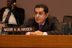 H.E. Nassir A. Al-Nasser from the Permanent Mission of Qatar