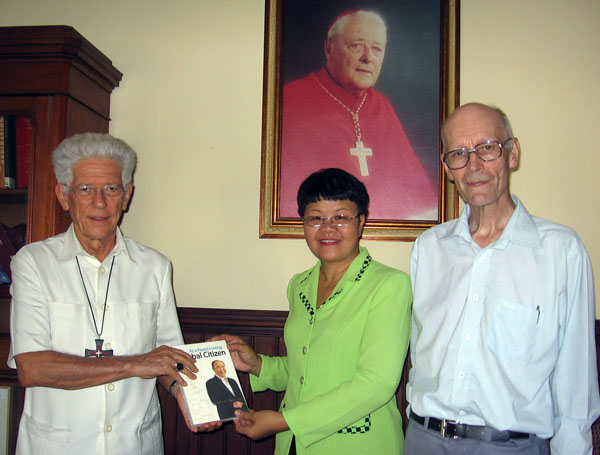 Meeting with Msgr. Maurice Piat