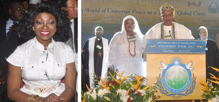 Ms. Patty Boulaye (left) and the Interfaith Prayers.