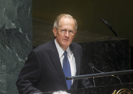Joseph Deiss, President of the sixty-fifth session of the General Assembly. UN Photo/Evan Schneider