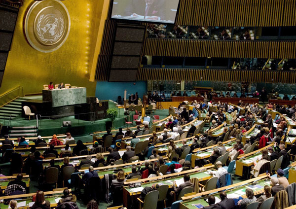 More than a thousand people filled the United Nations General Assembly Hall