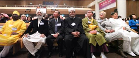 Some of the faith leaders who came to celebrate the  United Nations Week of Interfaith Harmony