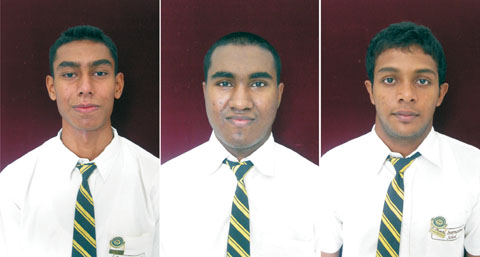 Left to right: Azeez Abubakr, Rehman Abubakr, and Fazal Thahir