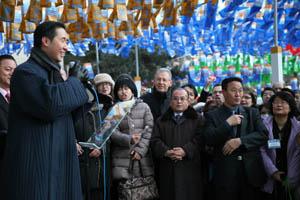 Д-р Мун Хёнг Джин на Новогодней церемонии фонарей