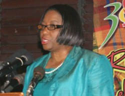 Mrs Carissa Etienne, from Dominica, the WHO Assistant Director-General for Health Systems and Services